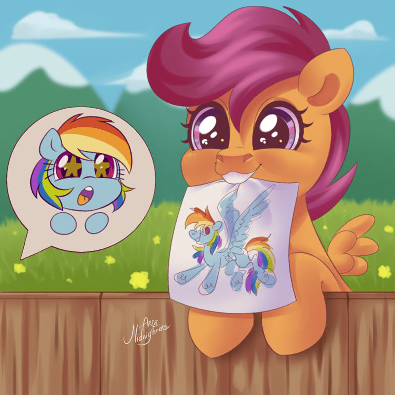 Scootaloo aria midnighters rainbow dash - 9493024256
