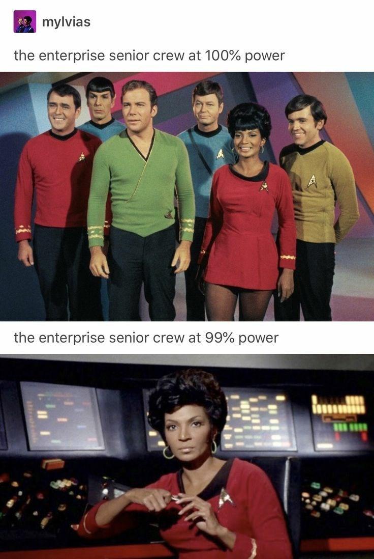 Media - mylvias the enterprise senior crew at 100% power the enterprise senior crew at 99% power