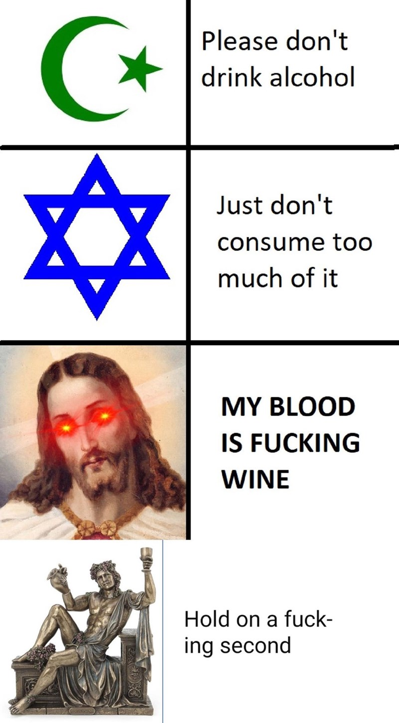 Text - Please don't drink alcohol Just don't consume too much of it MY BLOOD IS FUCKING WINE Hold on a fuck- ing second