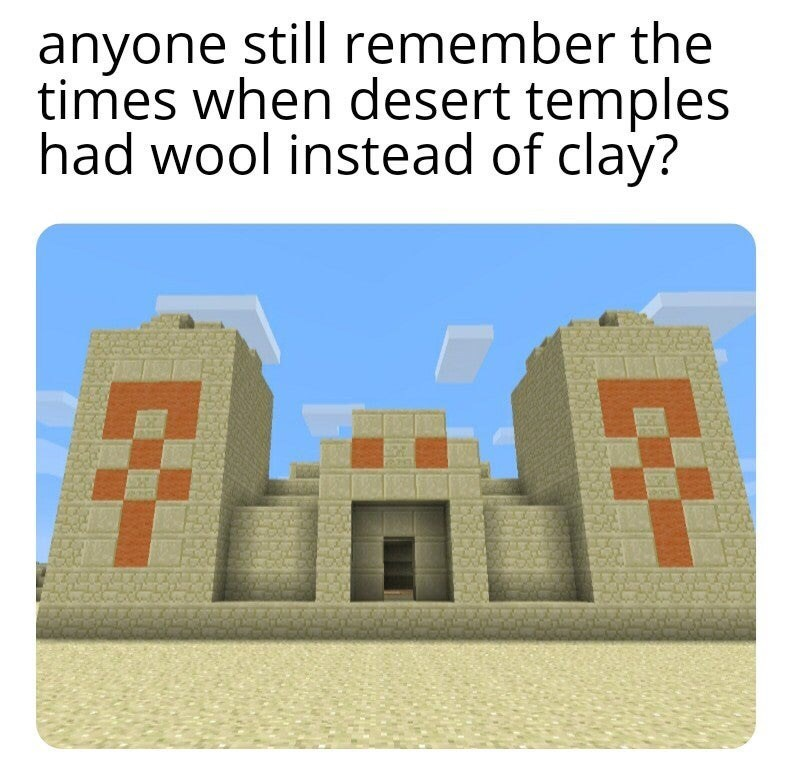 House - anyone still remember the times when desert temples had wool instead of clay?