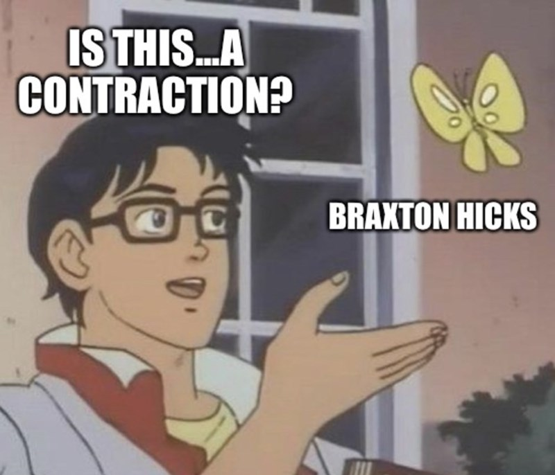 Cartoon - ISTHIS.A CONTRACTION? BRAXTON HICKS