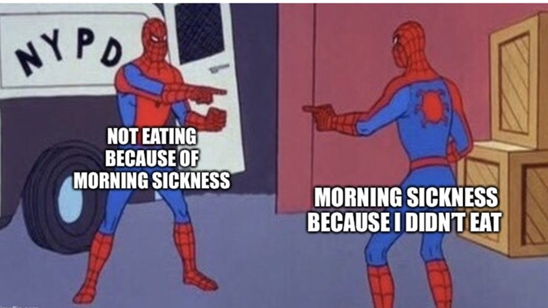 Spider-man - NY PO NOT EATING BECAUSE OF MORNING SICKNESS MORNING SICKNESS BECAUSE I DIDNT EAT
