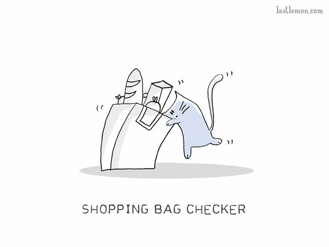 Cartoon - lastlemon.com SHOPPING BAG CHECKER