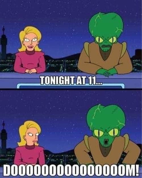 Cartoon - TONIGHT AT 1. DO00000000000000M!