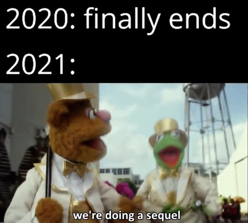 Photo caption - 2020: finally ends 2021: we're doing a sequel
