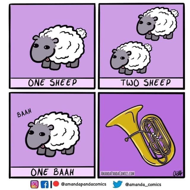 Text - ONE SHEEP TWO SHEEP BAAH ONE BAAH AMANDAPANDACOMICS.COM fIO @amandapandacomics @amanda_comics