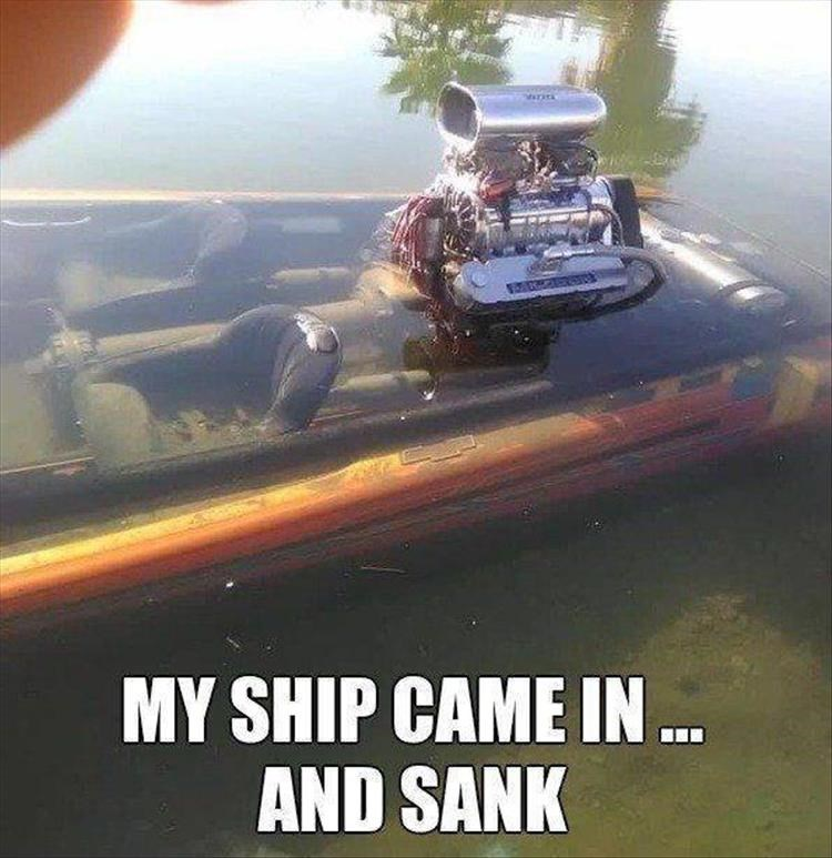 Motor vehicle - MY SHIP CAME IN . AND SANK