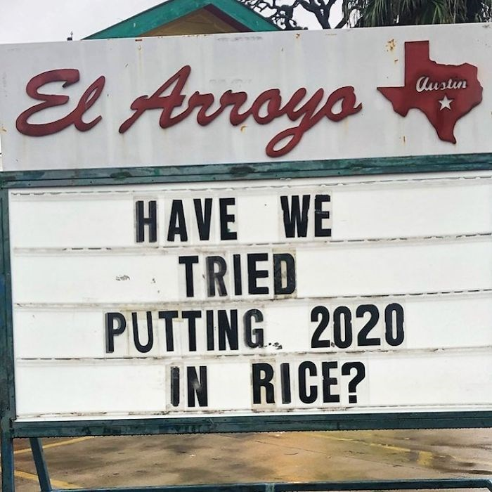 Font - El Arroys Austin HAVE WE TRIED PUTTING. 2020 N RICE? IN