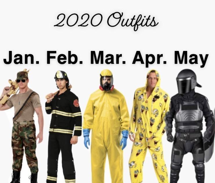 Personal protective equipment - 2020 Outfits Jan. Feb. Mar. Apr. May