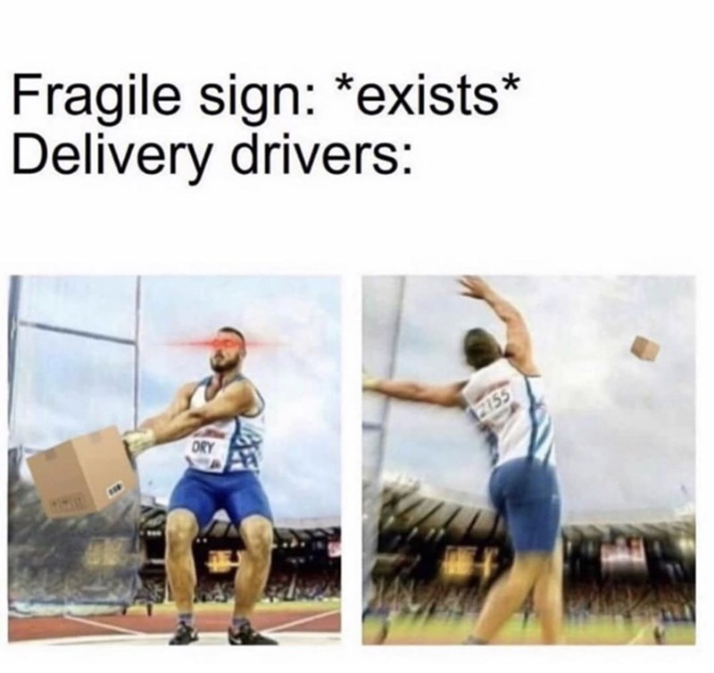 Joint - Fragile sign: *exists* Delivery drivers: ORY 2155