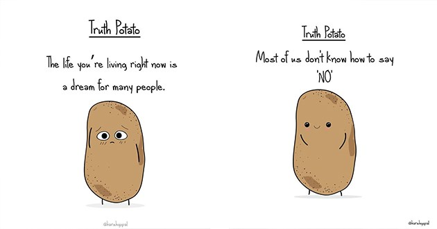 truth potato life art