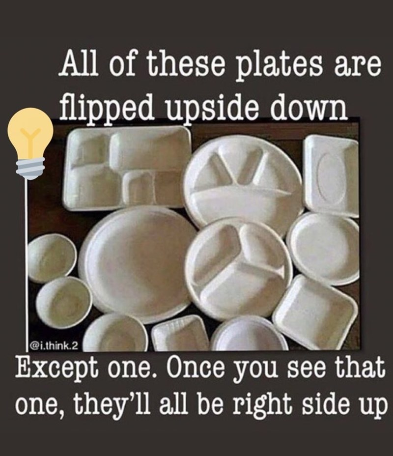 Font - All of these plates are flipped upside down |@i.think.2 Except one. Once you see that one, they'll all be right side up