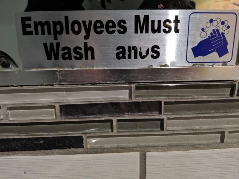 Font - Employees Must Wash anus
