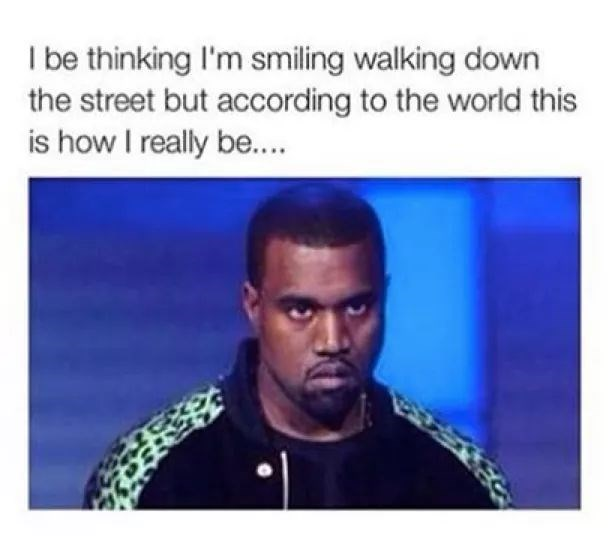 Hair - I be thinking I'm smiling walking down the street but according to the world this is how I really be...