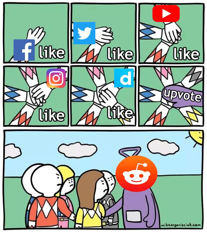 Cartoon - f like likeA like d. upvote like like mikeorganisciak.com