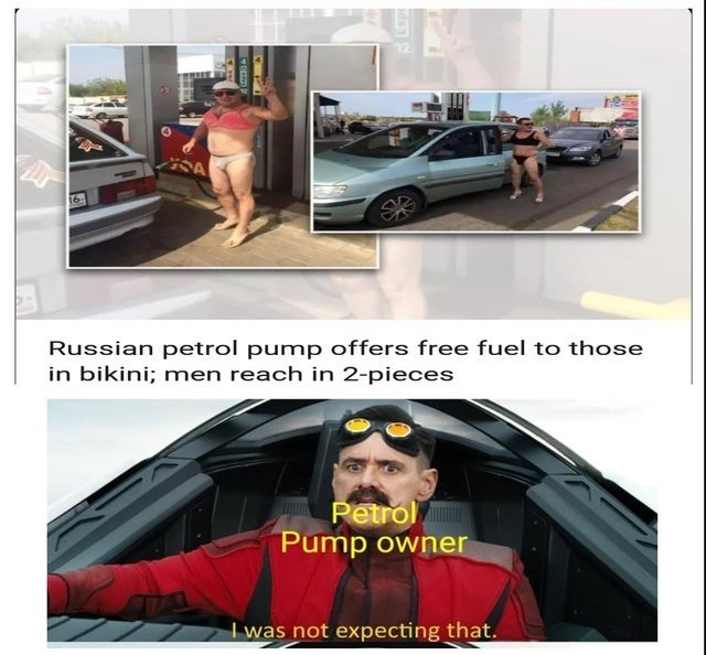 Product - 16 Russian petrol pump offers free fuel to those in bikini; men reach in 2-pieces Petrol Pump owner I was not expecting that.