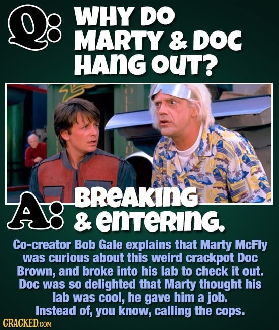 back to the future fan fact about marty and doc hanging out