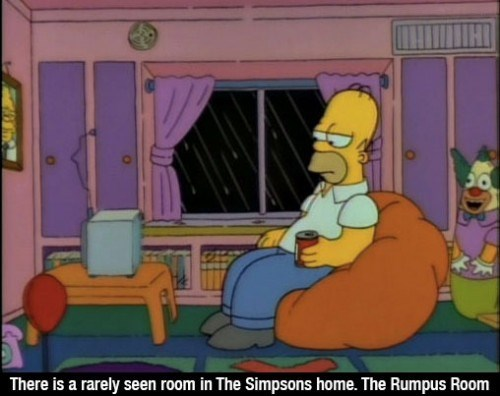 Cartoon - There is a rarely seen room in The Simpsons home. The Rumpus Room