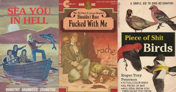 fake old style paperback covers
