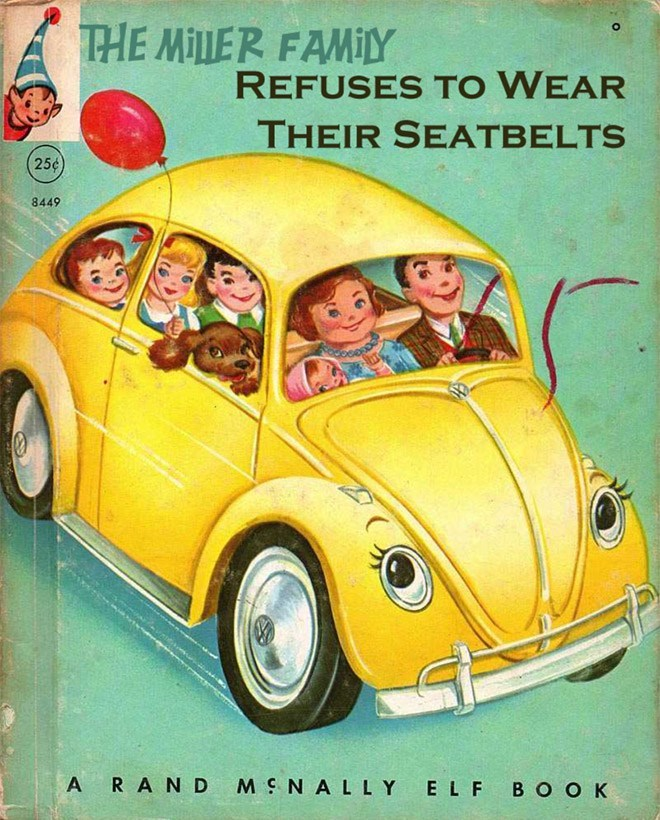 Motor vehicle - THE MILLER FAMILY REFUSES TO WEAR THEIR SEATBELTS 25¢ 8449 ARAND MSNALLY ELF BOOK