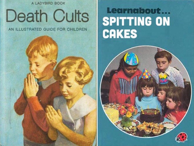 Child - A LADYBIRD BOOK Death Cults SPITTING ON Learnabout... AN ILLUSTRATED GUIDE FOR CHILDREN CAKES