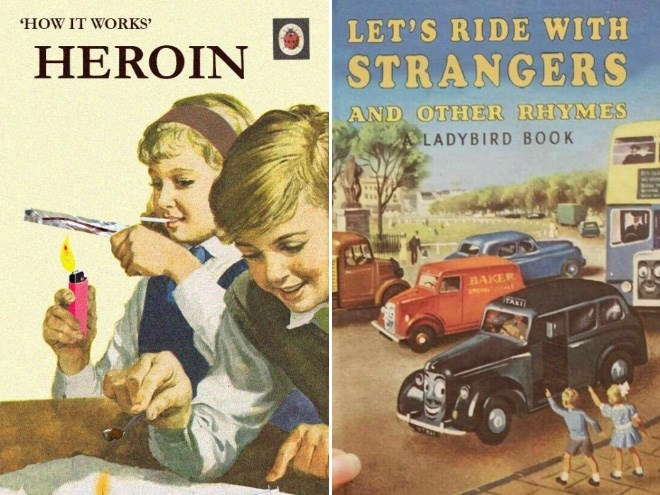 Motor vehicle - 'HOW IT WORKS' LET'S RIDE WITH HEROIN STRANGERS AND OTHER RHYMES ALADYBIRD BOOK BAKER TAXI