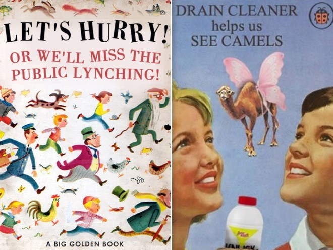 Organism - DRAIN CLEANER LET'S HURRY! SEE CAMELS helps us OR WE'LL MISS THE PUBLIC LYNCHING! A BIG GOLDEN BOOK
