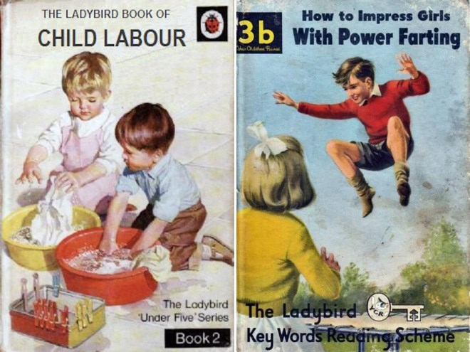 """Vintage advertisement - How to Impress Girls 3b With Power Farting THE LADYBIRD BOOK OF CHILD LABOUR The Ladybird Book 2 Key Words Readime Scheme The Ladybird """"Under Five' Series"""
