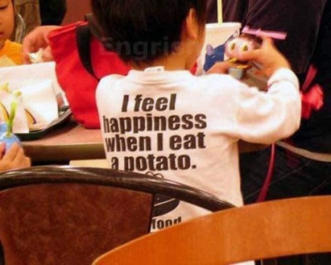 Youth - Engri I feel happiness when I eat a potato. fond