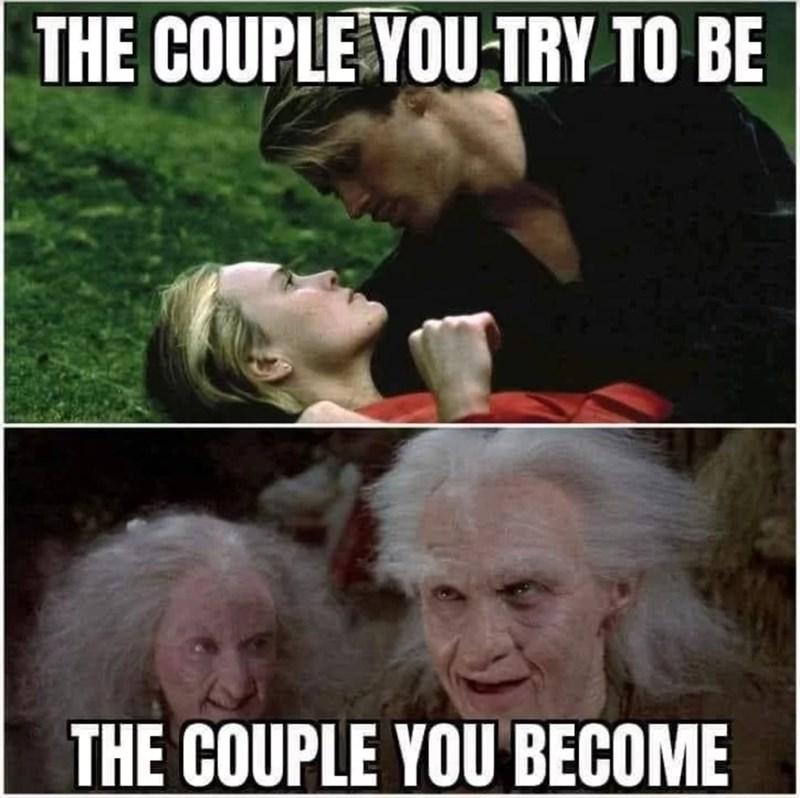 Photo caption - THE COUPLE YOU TRY TO BE THE COUPLE YOU BECOME