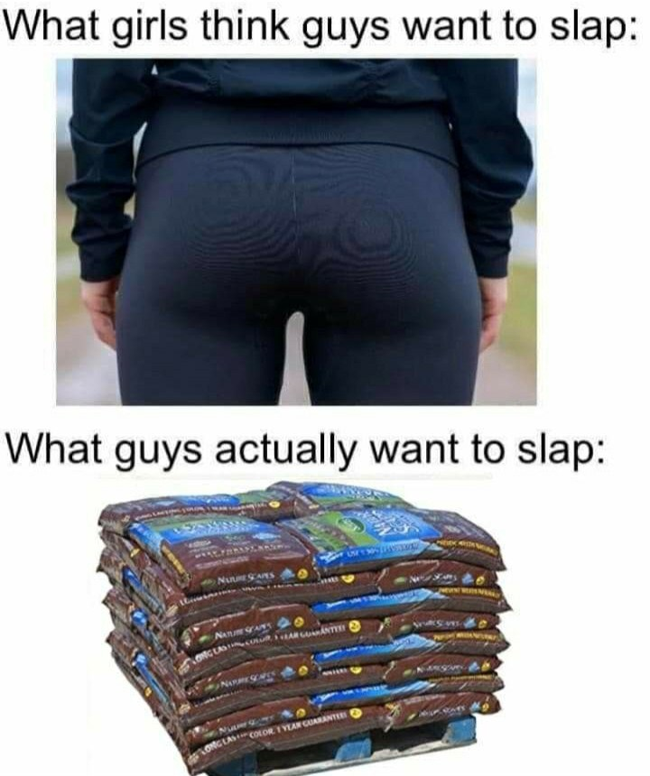 Clothing - What girls think guys want to slap: What guys actually want to slap: GLAS COLOR I YEAN CUARANTEE