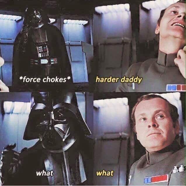 Darth vader - *force chokes* harder daddy what what