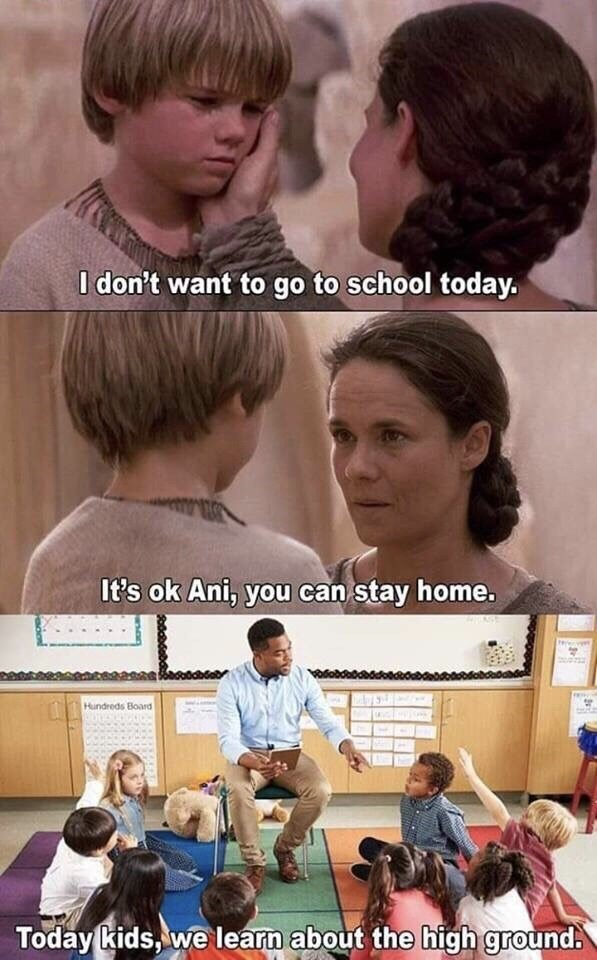 Hair - I don't want to go to school today. It's ok Ani, you can stay home. Hundreds Board Today kids, we learn about the high ground.