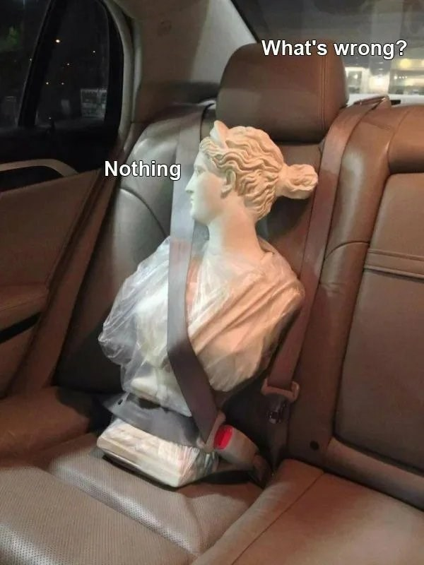Car seat - What's wrong? Nothing