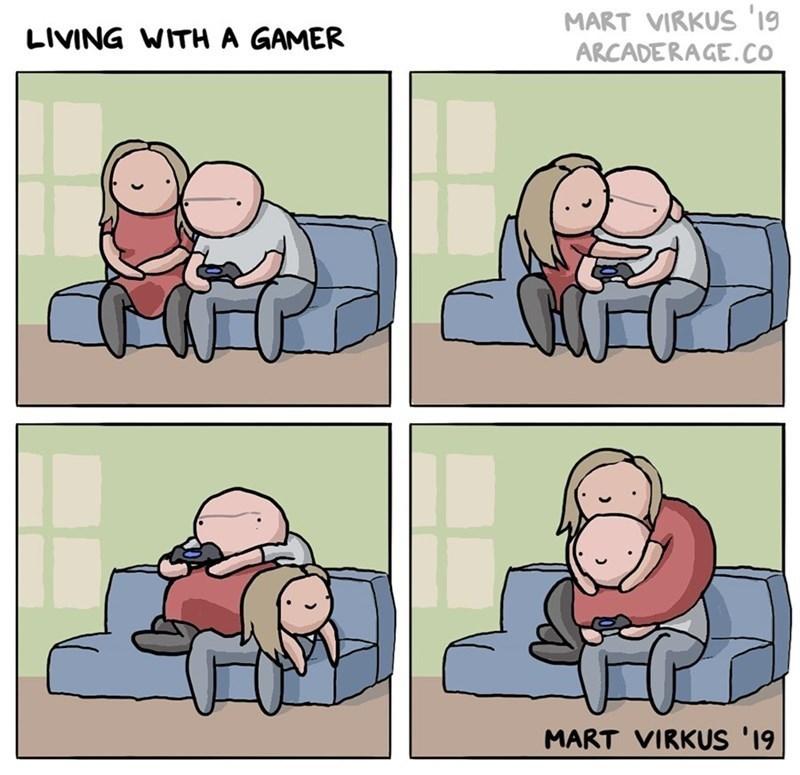 Cartoon - LIVING WITH A GAMER MART VIRKUS '19 ARCADERAGE.CO MART VIRKUS '19