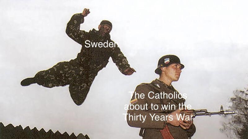 Soldier - Sweden The Catholios about to win the Thirty Years War
