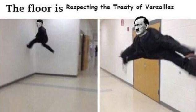 Kung fu - The floor is Respecting the Treaty of Versailles
