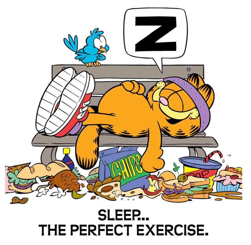 Cartoon - SLEEP.. THE PERFECT EXERCISE.