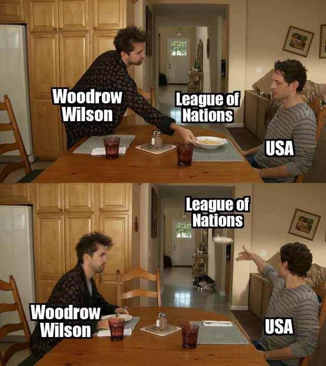 Furniture - Woodrow Wilson League of Nations USA League of Nations Woodrow, Wilson USA