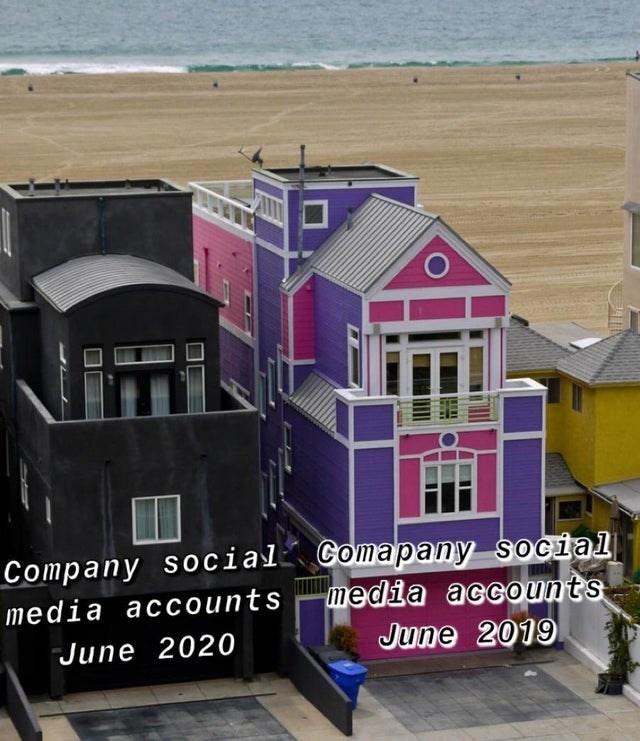House - Company social Gomapany social media accounts media accounts June 2020 June 2019