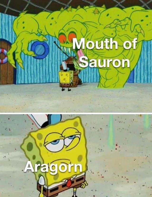 Cartoon - Mouth of Sauron Aragorn