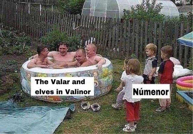 Water - The Valar and elves in Valinor Númenor