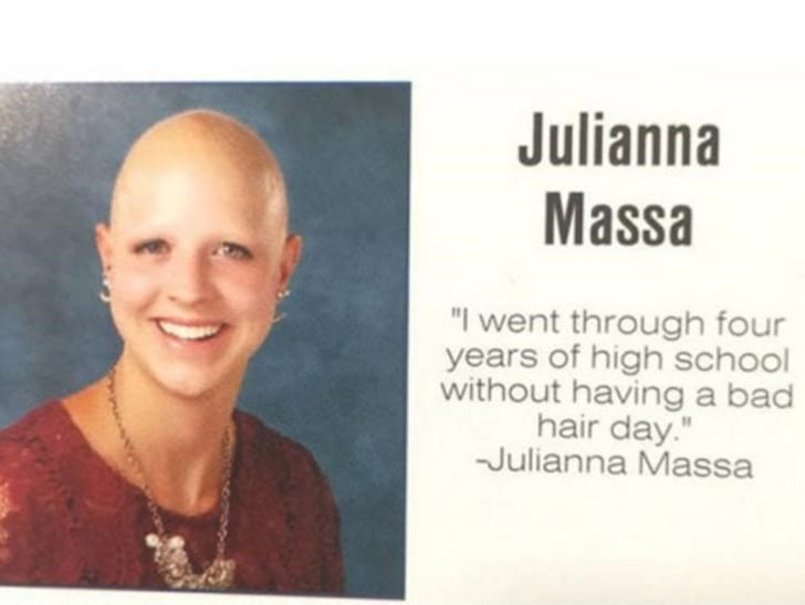 "Face - Julianna Massa ""I went through four years of high school without having a bad hair day."" Julianna Massa"