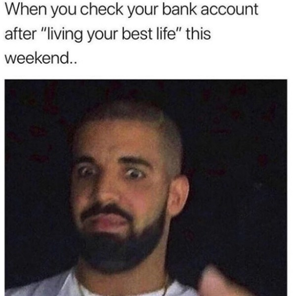 """Hair - When you check your bank account after """"living your best life"""" this weekend.."""
