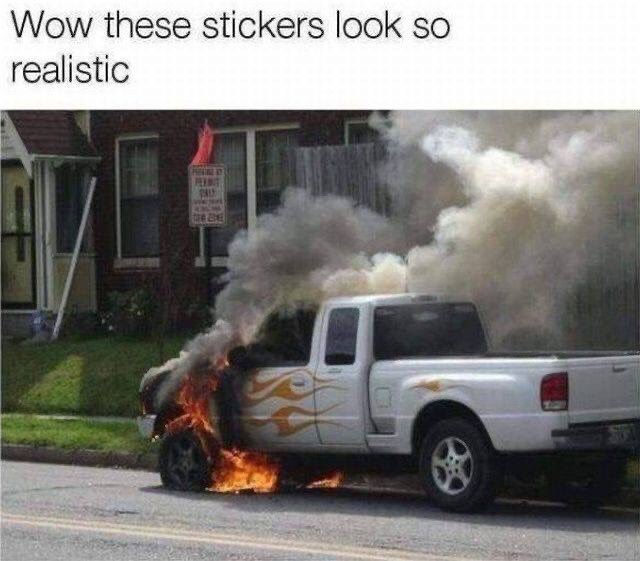 Motor vehicle - Wow these stickers look so realistic PENIT