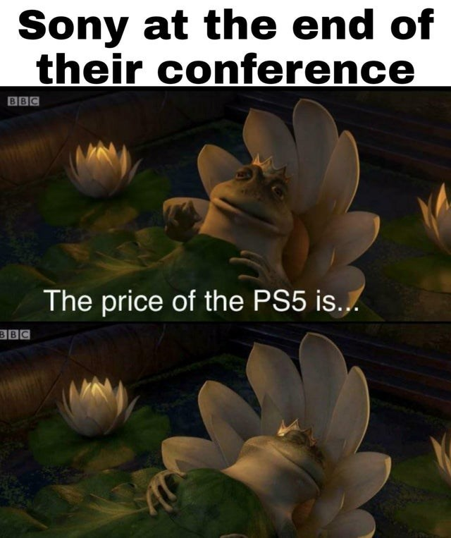 Nature - Sony at the end of their conference BBC The price of the PS5 is... BBC