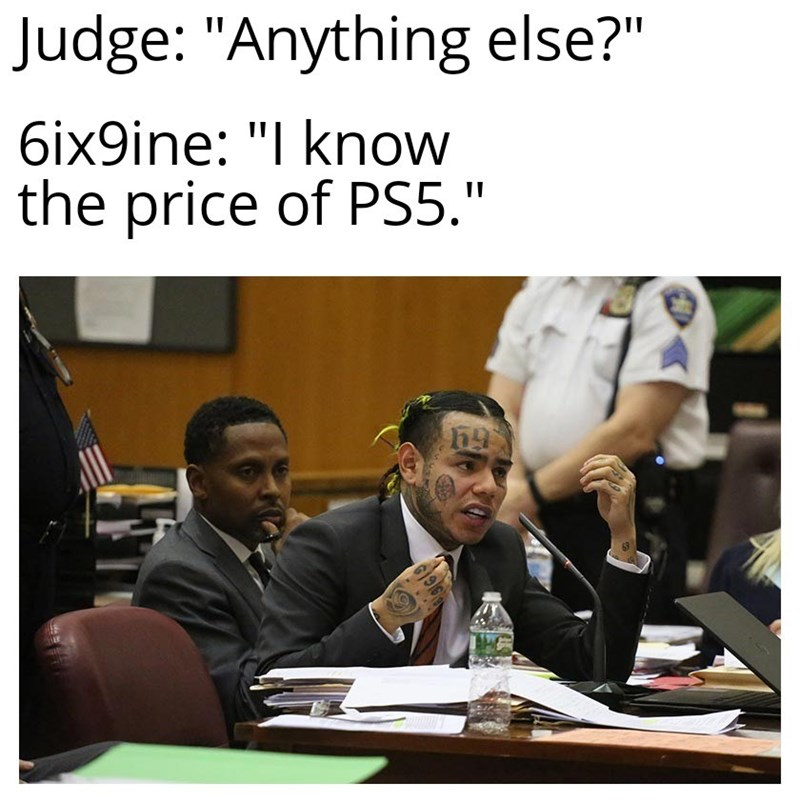 """Job - Judge: """"Anything else?"""" 6ix9ine: """"I know the price of PS5."""""""
