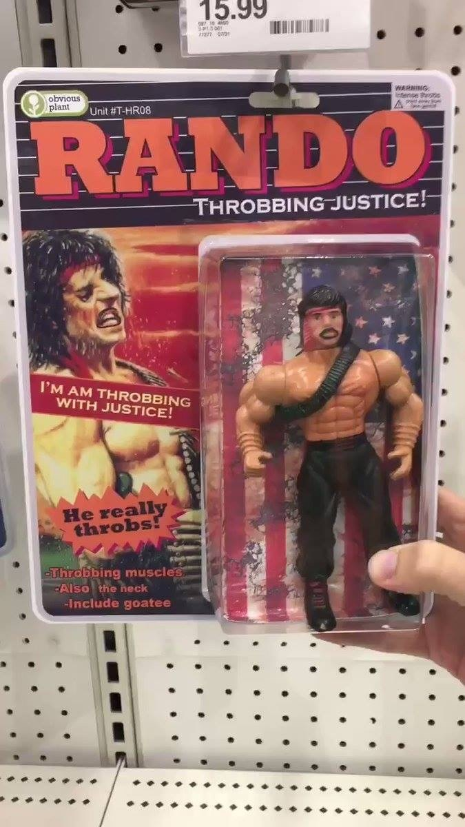 Action figure - 15.99 en om NG. lintense throns obvious plant Unit #T-HR08 RANDO THROBBING JUSTICE! I'M AM THROBBING WITH JUSTICE! He really throbs! -Throbbing muscles -Also the neck -Include goatee