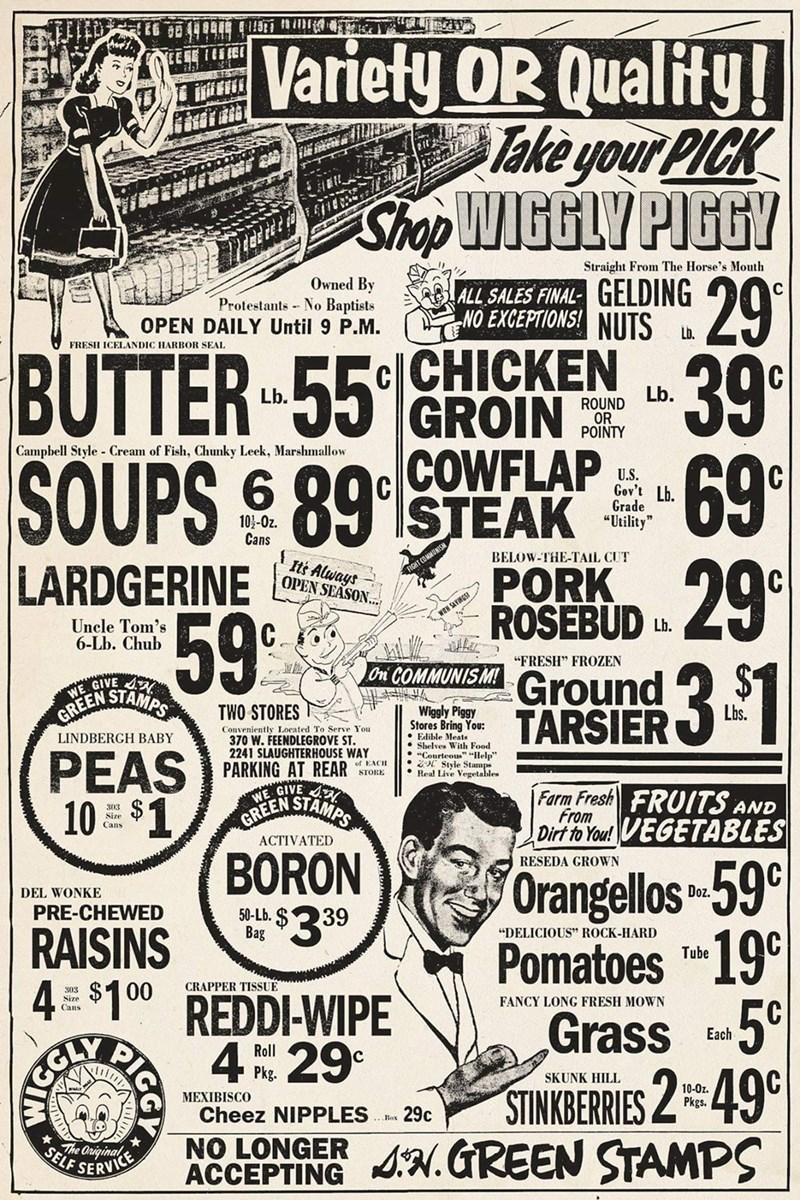 """Font - Variety OR Quality! Take your PICK Shop WIGGLY PIGGY 29 c