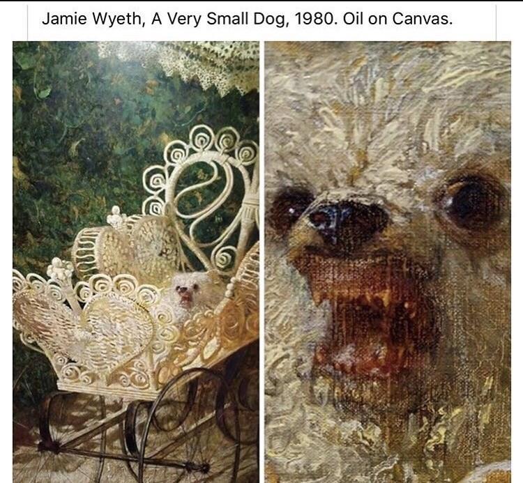 Dog - Jamie Wyeth, A Very Small Dog, 1980. Oil on Canvas.